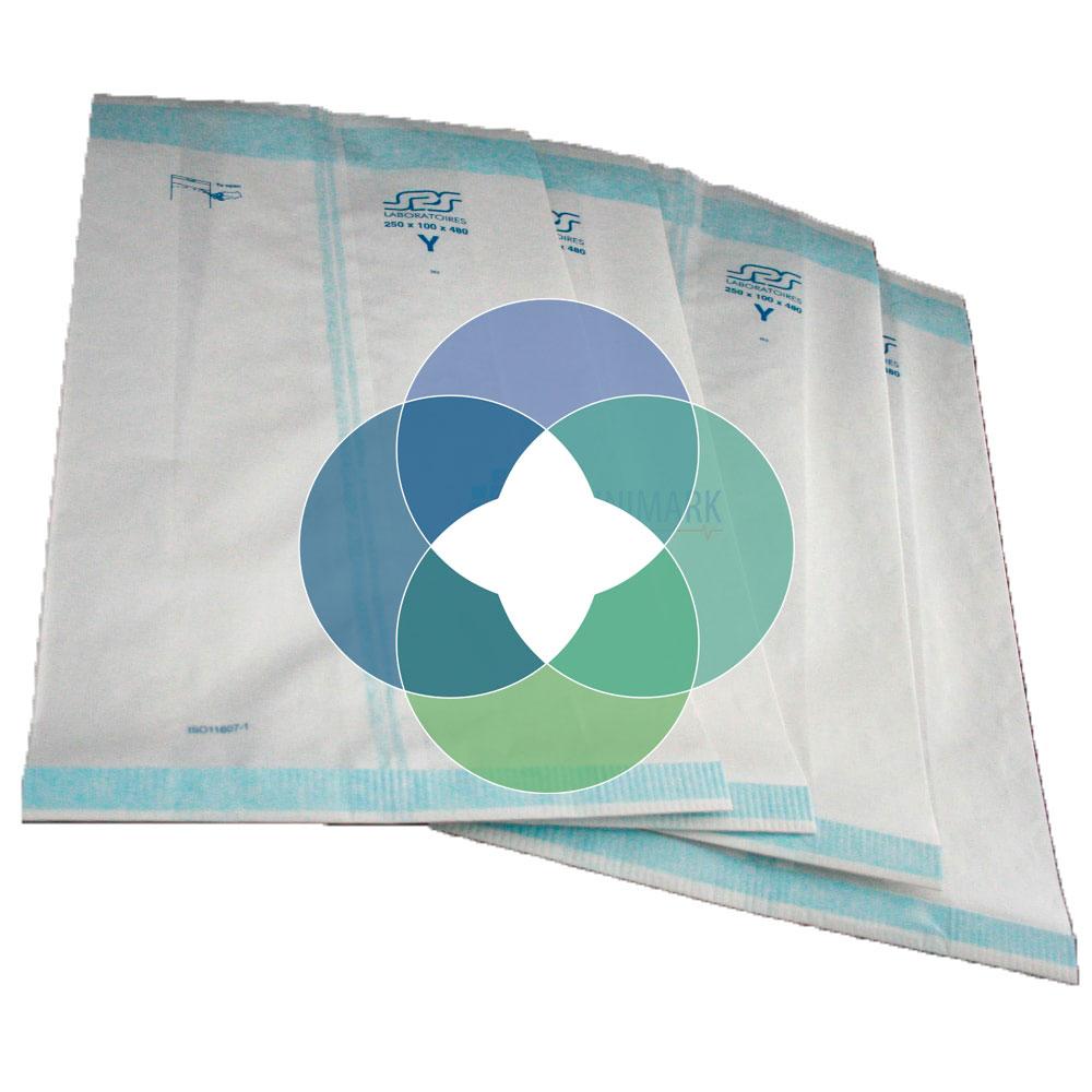Bolsas de papel fuelle para esterilización Amcor