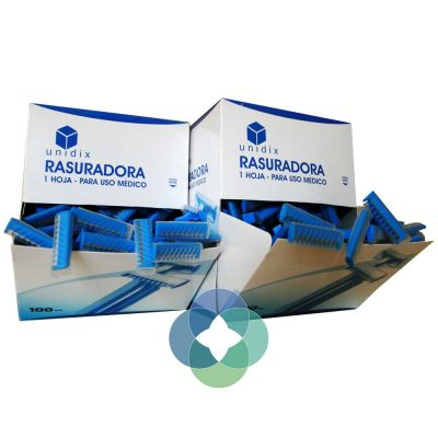 Rasuradora de vello de una hoja Unidix color azul