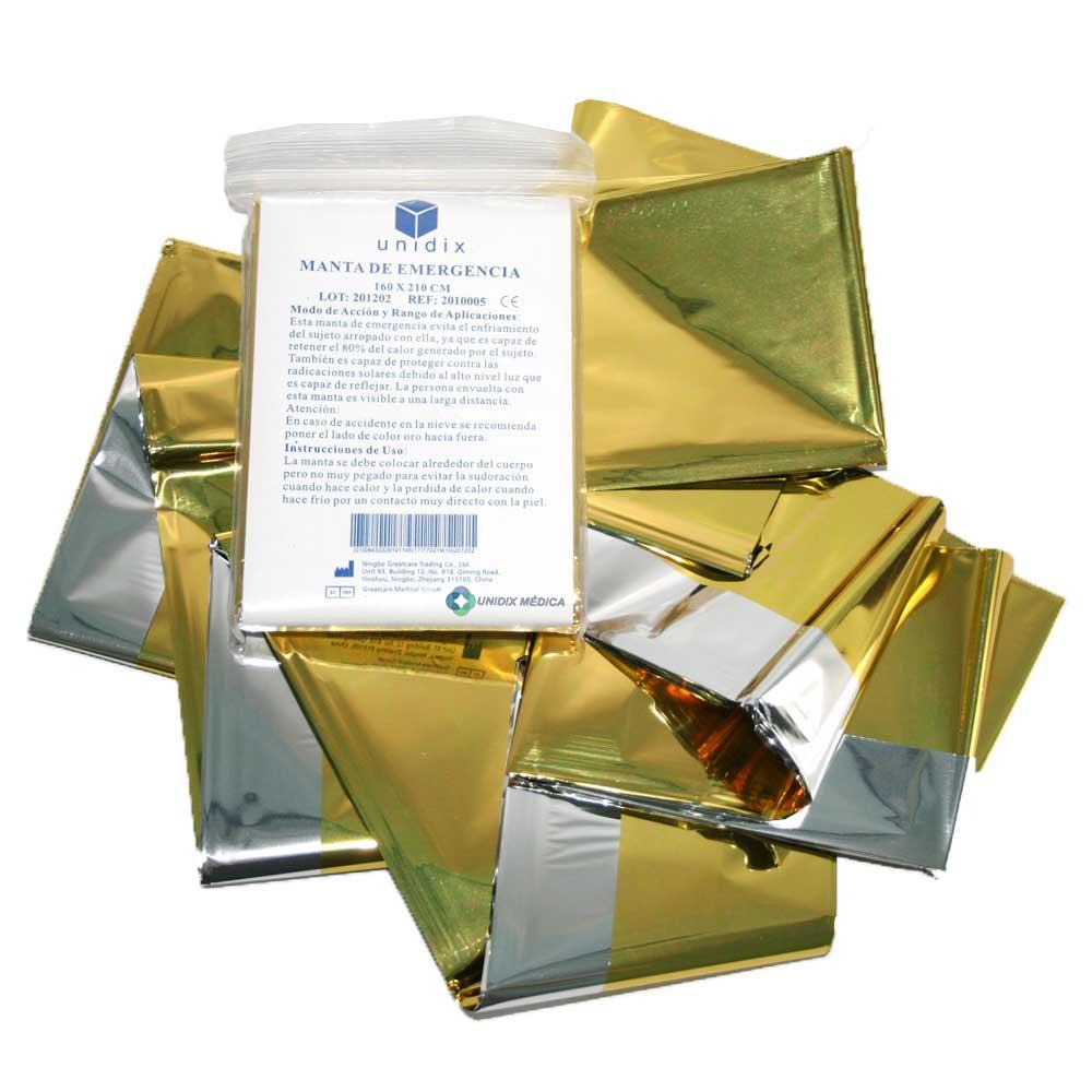 Manta termo aislante oro plata Unidix