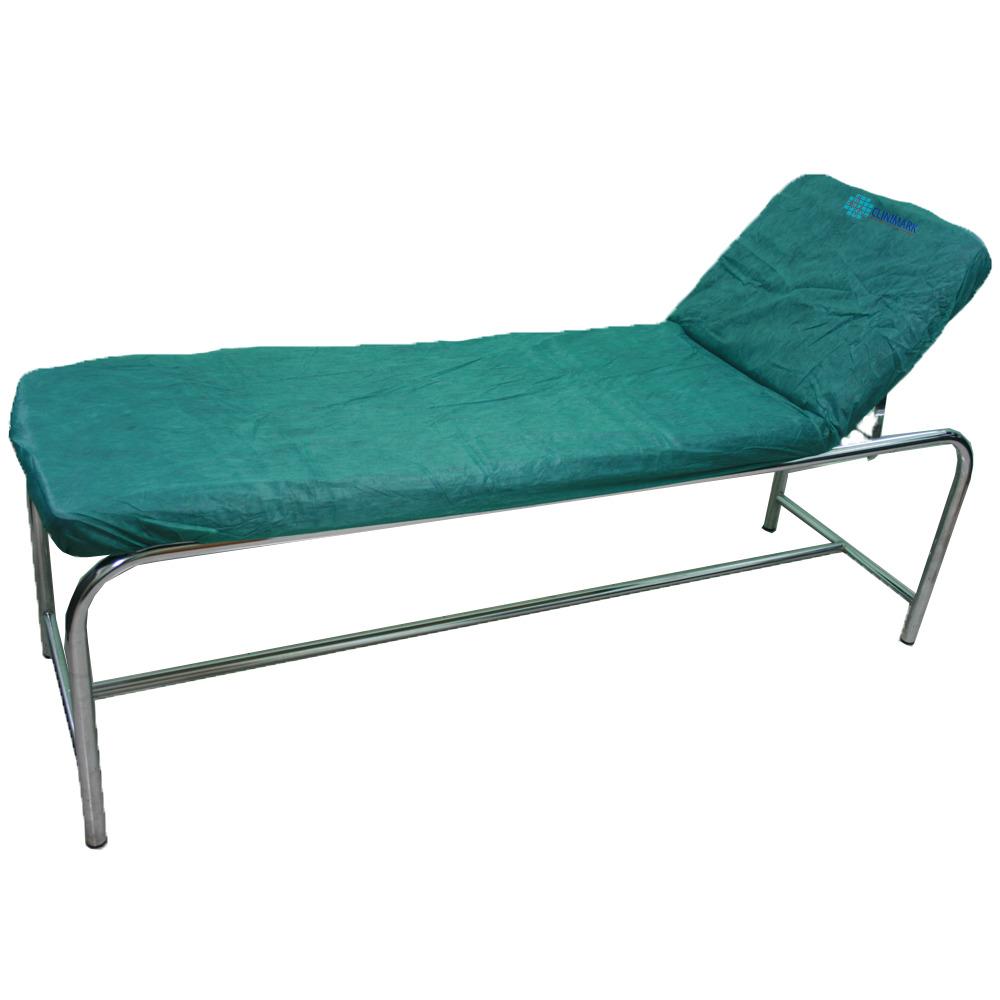 Sábana ajustable de tejido para camas y camillas de color verde