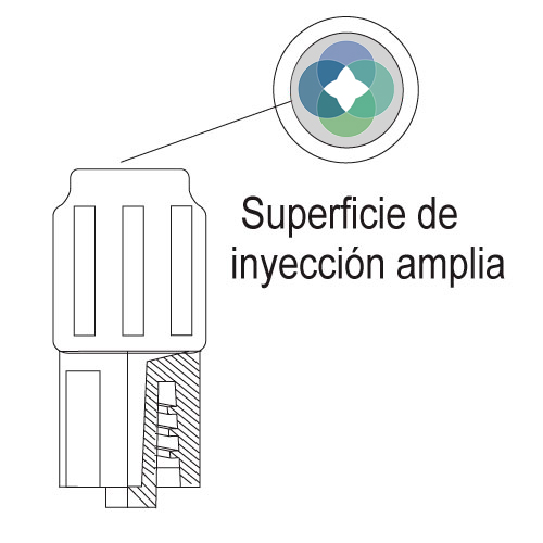TP-INTER tapón de punto de inyección para administración de medicación