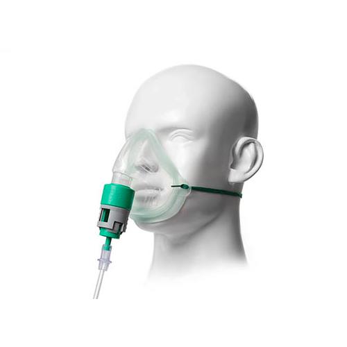 Mascarilla Intersurgical de oxígeno de 7 concentraciones con regulador tipo Venturi