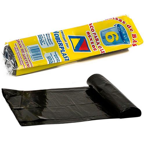 Rollo de basura negro de 85 x 105 cm.